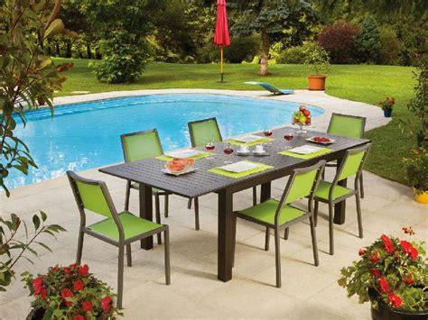 table de jardin aluminium extensible table de jardin extensible aluminium valdiz