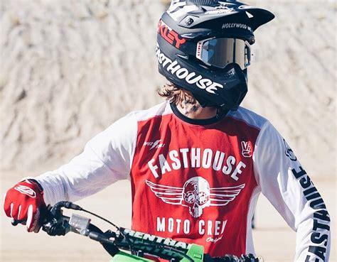 latest motocross fasthouse new mx original dirt bike vintage red white