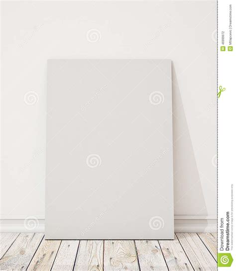 wall post template mock up blank poster on the white wall and the wooden