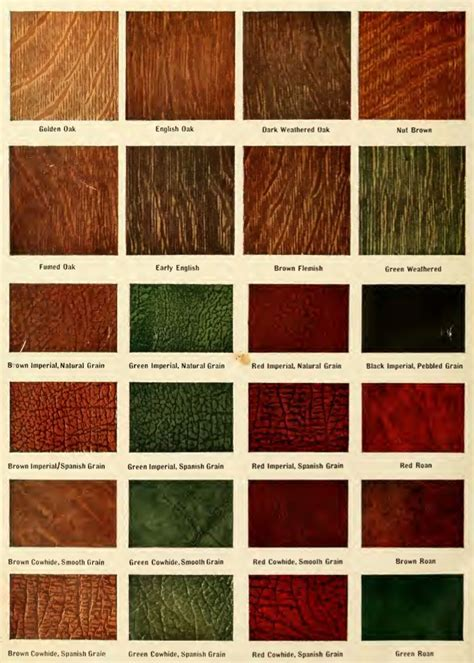 Stain colors and leather colors from the 1911 ComePackt
