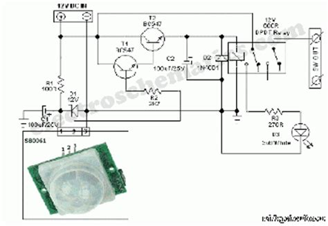 pir motion sensor circuit schematic circuit wiring diagrams