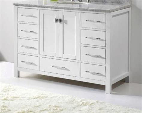 48in bathroom vanity 48in white vanity caroline avenue by virtu usa vu gs 50048