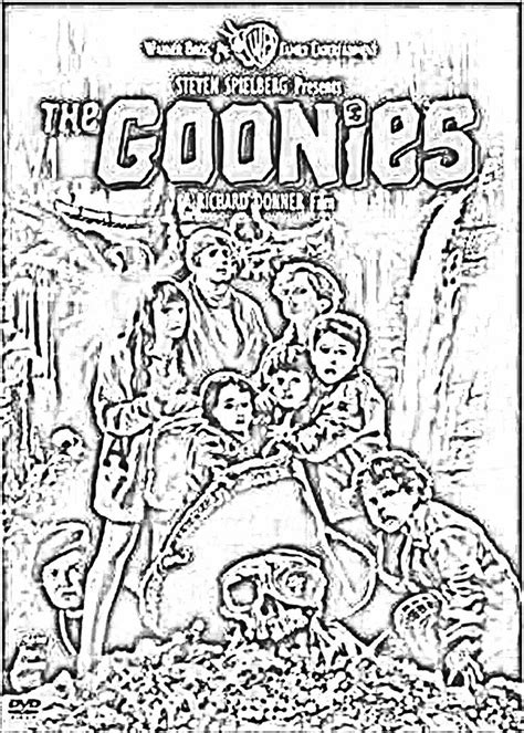the coloring page the goonies coloring page free coloring pages