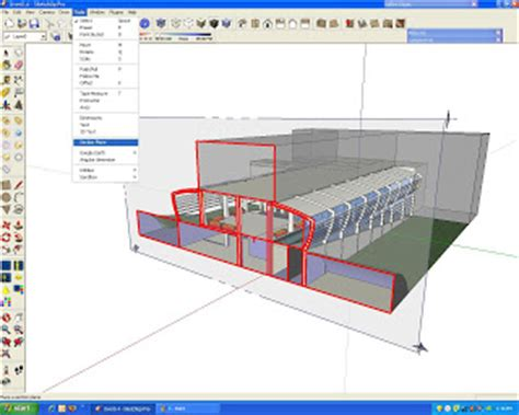 sketchup sections khruz sketchup sectional perspective