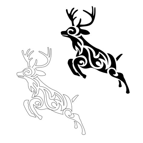 tribal stag tattoo tribal stag