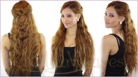 how to create a sculpturedweave hair style simple summer style perfect for naturally wavy hair