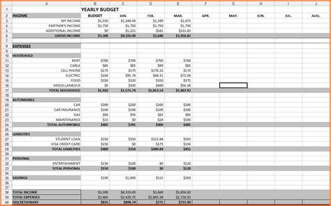 bill budget template 10 monthly bill spreadsheet template excel spreadsheets