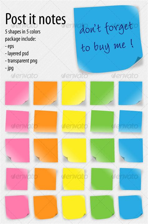 post it notes by cristianalm graphicriver