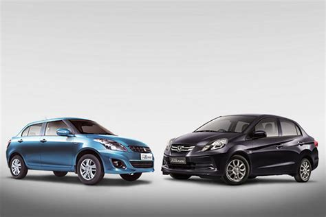 Maruti Suzuki Amaze Price Spec Comparison Honda Amaze Versus Maruti Suzuki