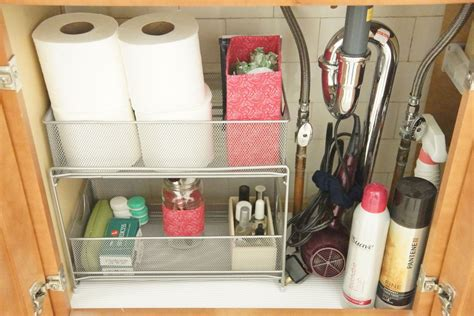 under the bathroom sink storage ideas the 15 smartest storage hacks for under your sink hometalk