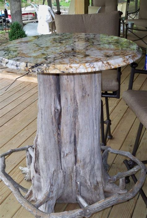 Tree Trunk Bar Top Tree Trunk Bar Table With Granite Top Notice The Foot