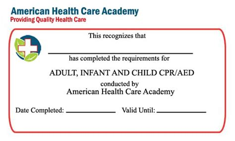 american association healthcare provider card template cpr certifications elec intro website
