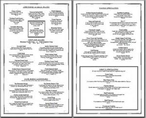 diner menu template free 7 best images of free printable menu templates for golf