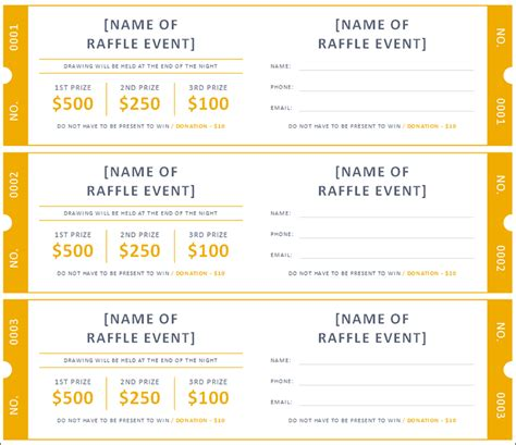 raffle ticket templates 21 ticket templates free premium templates