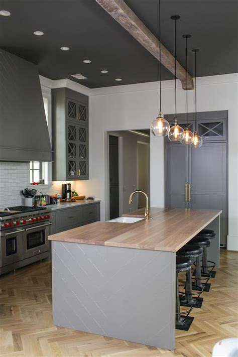 Off White Kitchen Cabinets with Light Gray Wash