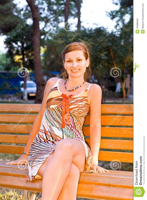 bench girl beautiful girl on a bench stock images image 10488434