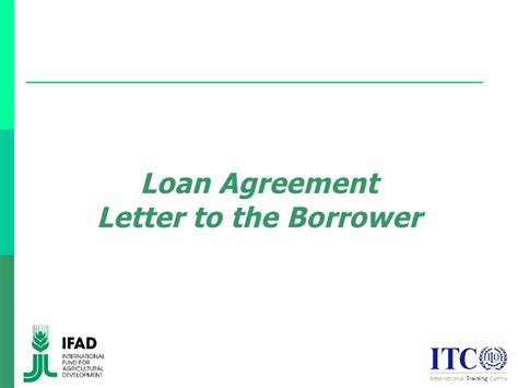 Loan Letter Individual Borrower Loan Agreement Letter To The Borrower