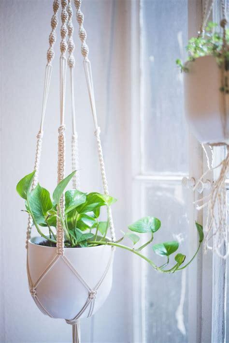 Macrame Tutorial - easy home diy macrame plant hanger tutorial macrame