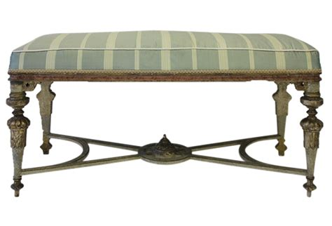 painted bench antique italian gilded and painted bench omero home