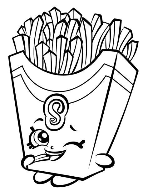 April Apricot Shopkin Season 4 Coloring Games Coloring Fries Coloring Page