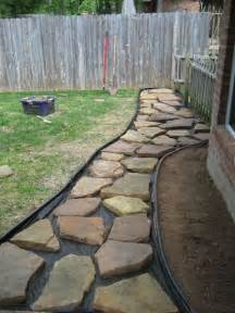 Landscape Fabric Flagstone Best 25 Flagstone Path Ideas On