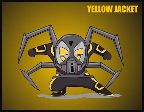 How To Draw Yellow Jacket how to draw yellow jacket in chibi style using coreldraw