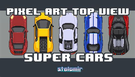 pixel car top view pixel art top view super cars gamedev market