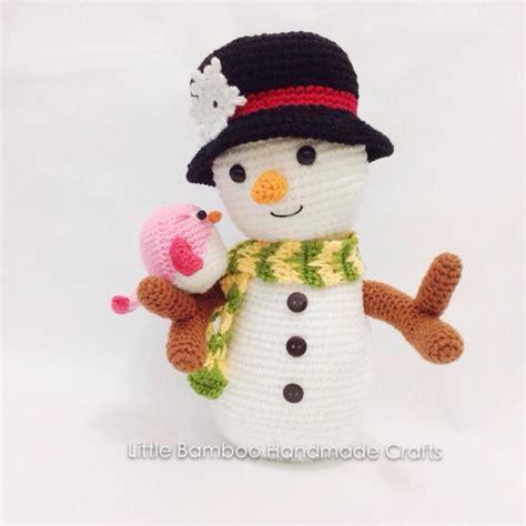 amigurumi snowman pattern free snowman and bird amigurumi pattern amigurumipatterns net