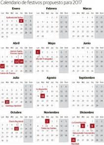 Calendario 2018 Dias Festivos Mexico Calendario Laboral De 2017 Festivos Y Puentes