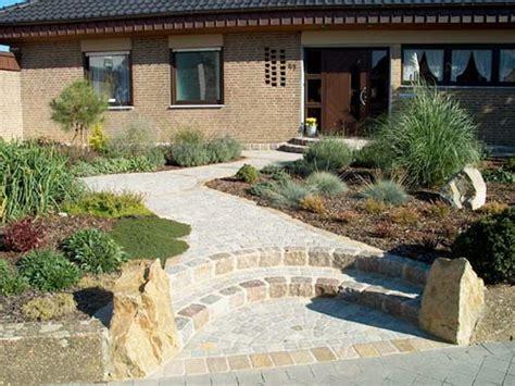 Bilder Gartengestaltung 3721 vorgarten 200 qm rustikal mit naturstein