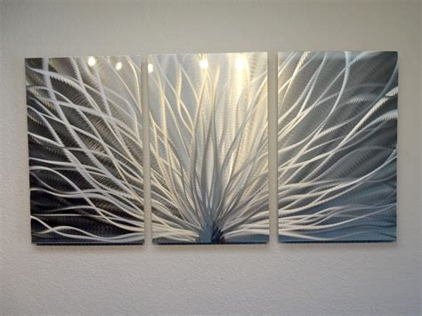 modern contemporary wall decor radiance 3 panel metal wall art abstract contemporary
