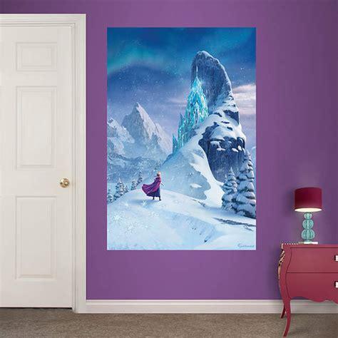 disney frozen wall mural snow elsa s castle mural wall decal shop fathead 174 for disney frozen decor