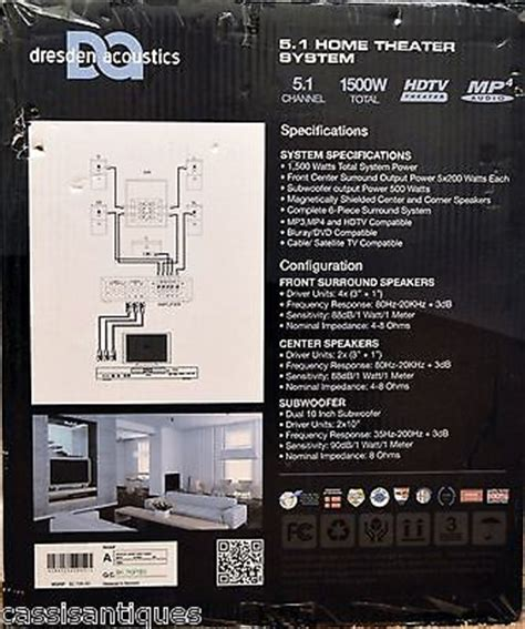 dresden acoustic ds 10 home theater system 5 1 brand