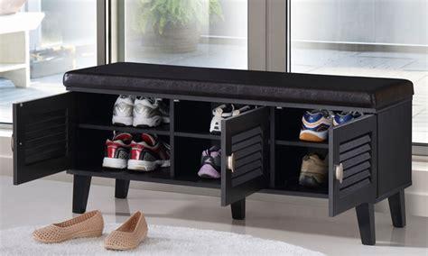 modern shoe storage bench sheffield shoe storage benches groupon goods