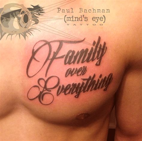 family over everything tattoo quot family everything quot by paul bachman at mind s