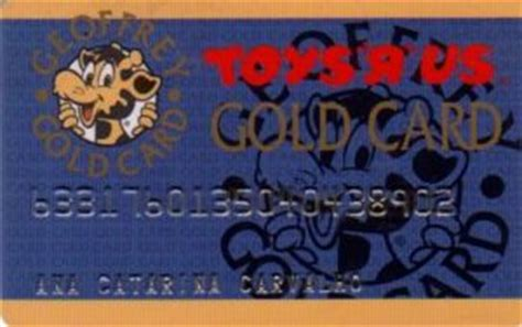 Colnect Gift Cards - gift card gold card toys r us portugal col p toys 001