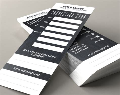 Youth Connection Card Template by Connect Cards Search Church Design
