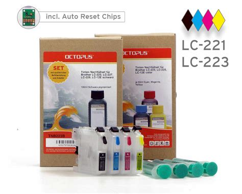 chip resetter brother lc 223 instruction refillable cartridges for brother lc 223 lc