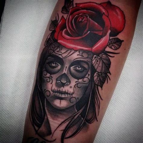 dead roses tattoo day of the dead tattoos golfian