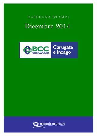 credito cooperativo di carugate bcc rassegnasta dicembre 2014 by bcc carugate e inzago