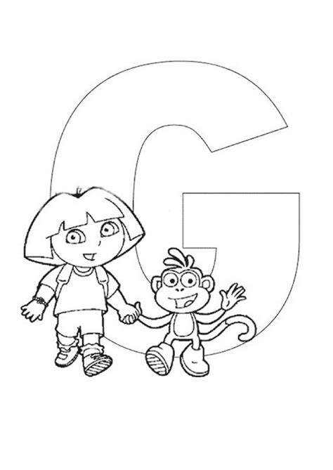 dora alphabet coloring pages dora the explorer alphabet dora and boots walking in front
