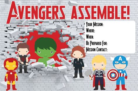 printable birthday card avengers 7 best images of free avengers printable birthday