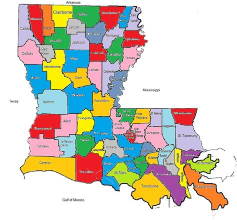 louisiana map with parishes pin parish maps of on
