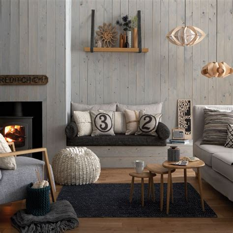gray living room decorating ideas cosy grey and warm oak living room living room decorating ideas housetohome co uk