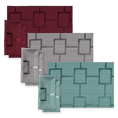 bed bath and beyond tribeca origins tribeca microfiber placemat and napkins bed