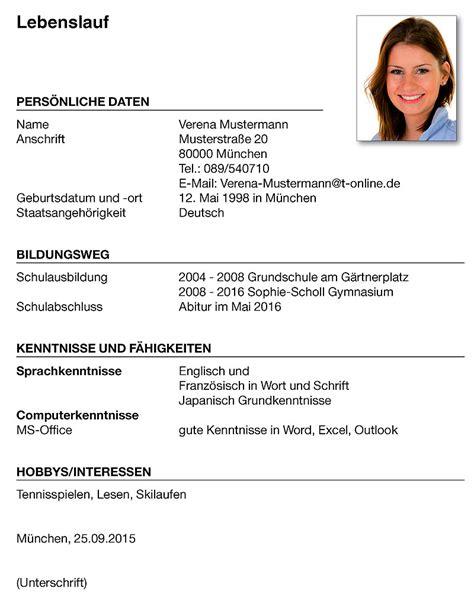 Lebenslauf Ausbildung Berufsschule Angeben Willkommen Beim Azubi Magazin M 252 Nchen