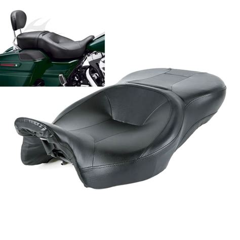 best harley touring seat for riders new black rider and passenger seat for harley touring