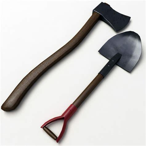 3ds Shovel shovel axe 3d 3ds