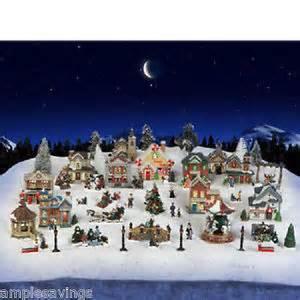 cobblestone corners christmas village 2014 sale 61 pc set