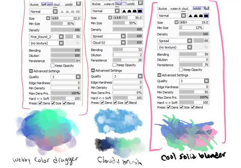 paint tool sai 2 settings paint tool sai brushes vullo someone asked for my brush